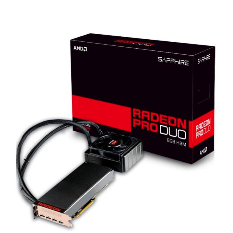 SAMD Radeon Pro Duo 8G Sapphirey dual core water cooled game graphics seconds TTZ