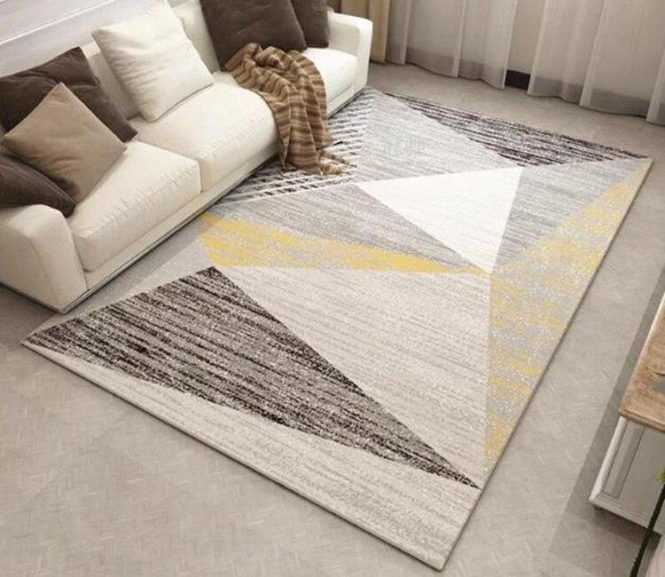 Tapis gris nordique tapis chambre tapis antidérapant tapis de sol super doux tapis décoratif pour tapete de salon - 6