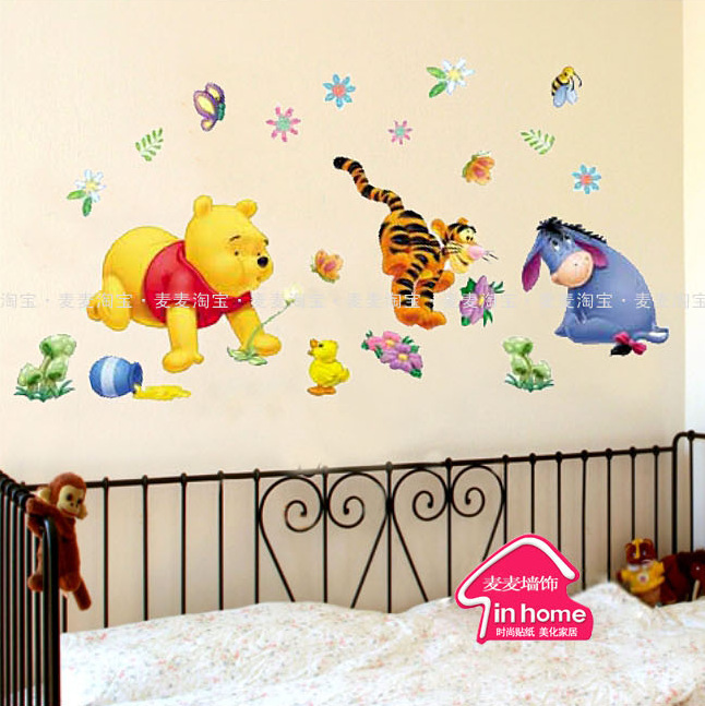 Bornisking Cubs Donkeys Living Room Sofa Background Color Cartoon Children Decals Wallpaper