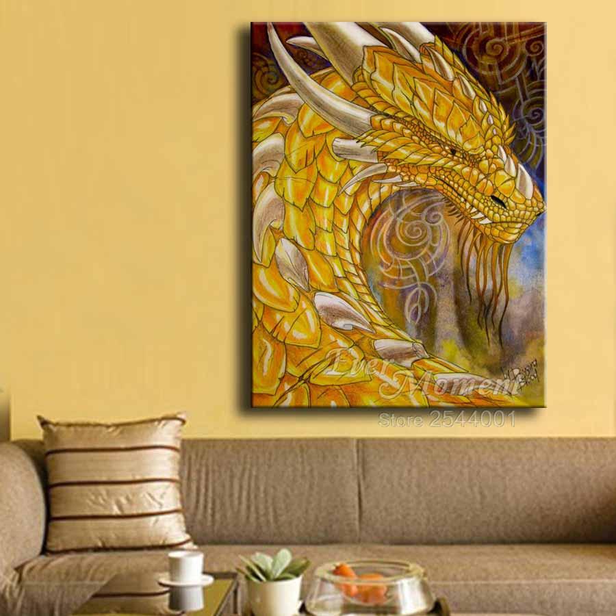 diamond painting dragon pictures yellow dragon head diamond ...