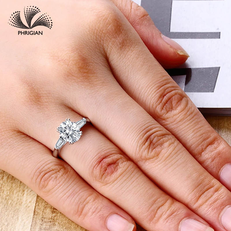 Sona NOT FAKE Fine Engraving Ring S925 Sterling silver Diamond Solitaire ring Original Design 925 oval cut 4 clawsSona NOT FAKE Fine Engraving Ring S925 Sterling silver Diamond Solitaire ring Original Design 925 oval cut 4 claws