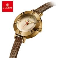 Julius Women Fine Leather Watches ladies Waterproof Quartz Watch Rhinestone Small Dial Bracelet Watches Clock Relogio Faminino