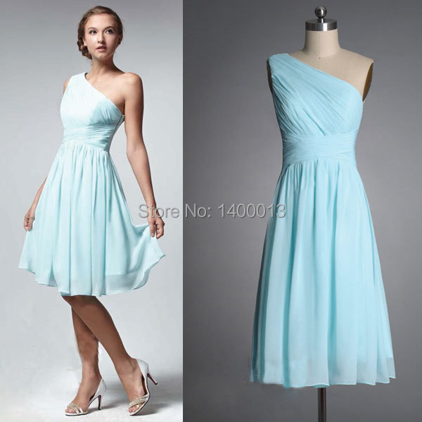 Light Teal Short Bridesmaid Dresses - Wedding Dress Ideas