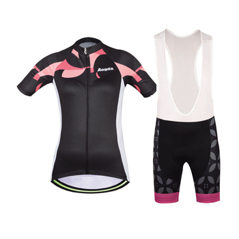 Aogda Summer Manga Curta Ciclismo Jersey Gel Pad Bib Shorts Define Feminino Mulheres Roupas Bicicleta Roupas De Corrida de Bicicleta Kits