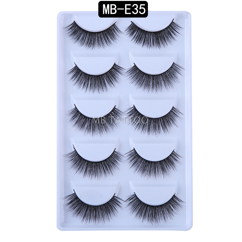 HTB1d.gJQ3DqK1RjSZSyq6yxEVXaC New 3D 5 Pairs Mink Eyelashes extension make up natural Long false eyelashes fake eye Lashes mink Makeup wholesale Lashes