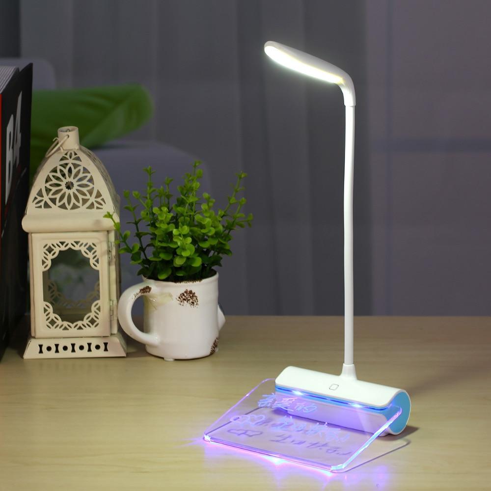 Mesaj lövhəsi ilə USB ilə doldurulan masa lampası, portativ üç - Daxili işıqlandırma - Fotoqrafiya 3