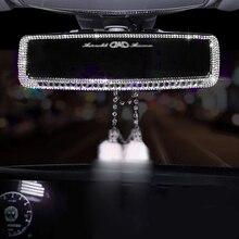 Алмазное зеркало заднего вида для салона автомобиля, украшение из горного хрусталя, Автомобильная крышка зеркала заднего вида, автомобильные аксессуары для девочек и женщин