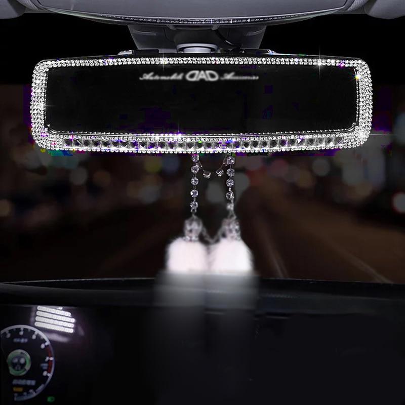 Diamond Car Interior Rearview Mirror Decoration Rhinestone