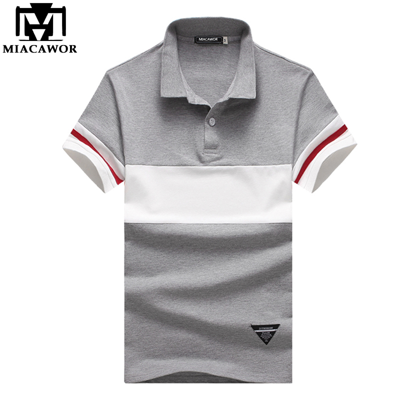 MIACAWOR New Brand Men   Polo   Shirt Casual Tops & Tees   Polo   Homme Summer Short-sleeve Camisa   Polo   Masculina Plus Size 5XL MT568