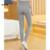 Cintura elástica Pantalones de Los Guardapolvos de los Pantalones de Maternidad Ropa de Maternidad de Algodón de Alta Calidad para el embarazo Las Mujeres de Cintura Alta Stripped Pantalón