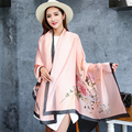 2016 Fashion Women Scarf Bohemia Style Shawl Brand Flower Printed Letter Scarf Female Soft Scarves