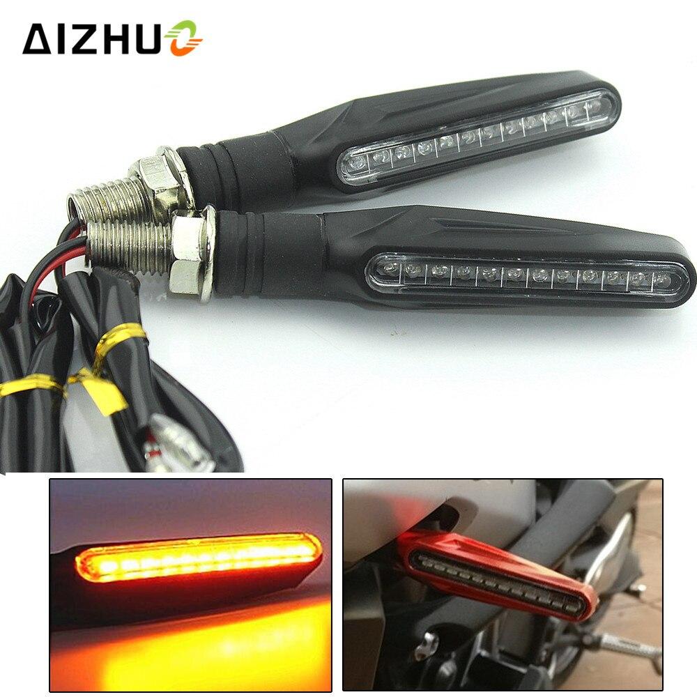 Motorcycle Turn Signal Light for HONDA CB400 CB599 CB600 CB190R Z750 Z800 Z1000 Flexible LED Flashing Indicators Blinkers light
