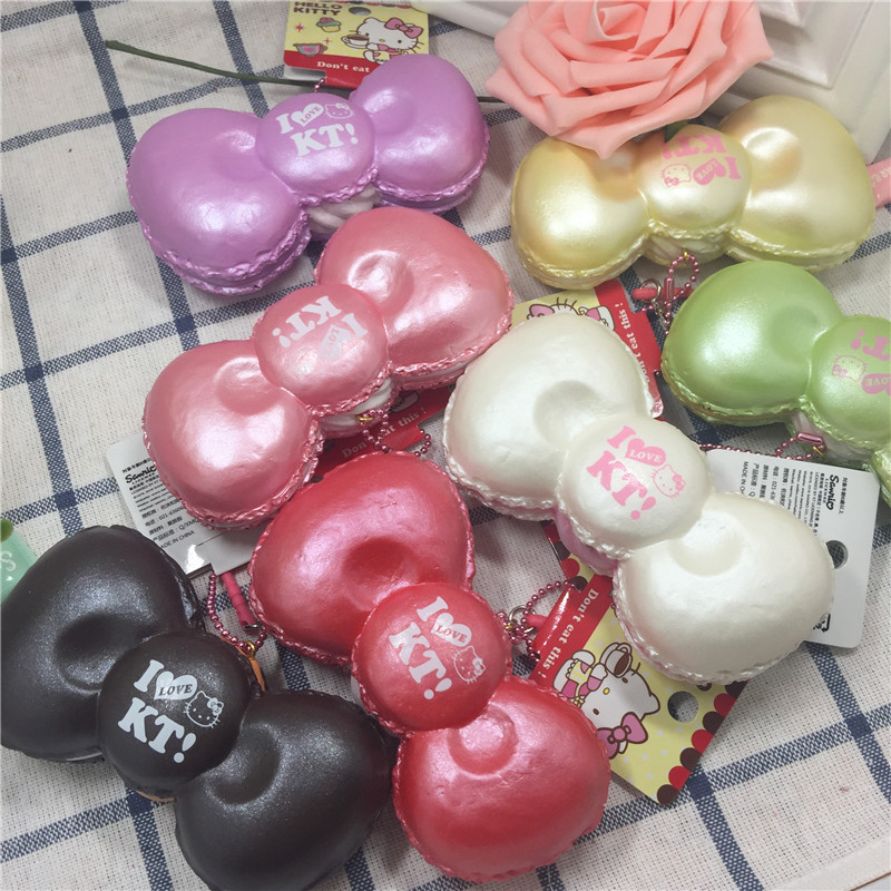 slow rising hello kitty bow squishy wholesales 14pcs lot New kuwaii squishy toys Licensed charm jumbo