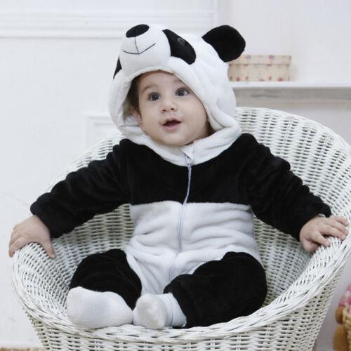 2019 cute Boy Girl Kids Warm Winter Panda Animal Overall Thicken Romper for Kid clothes toddler Children newborn 0-3Y