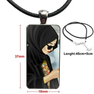 Image 5 - Voor Vrouwen Handgemaakte Meisjes Oosterse Vrouw In Hijab Gezicht Moslim Islamitische Ketting Mode Lange Ketting Met Rechthoek Ketting Sieraden