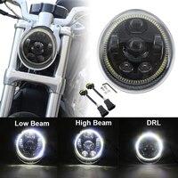Led Lights DRL Halo 60W Motorcycle V Rod Headlight Assembly Daytime Running Light For Harley VROD VRSCF VRSC VRSCR 2002 2017
