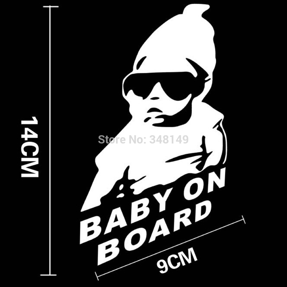 Toyota car sticker design - Baby On Board Baby In Car Stickers And Decal For Toyota Chevrolet Cruze Volkswagen Skoda Hyundai