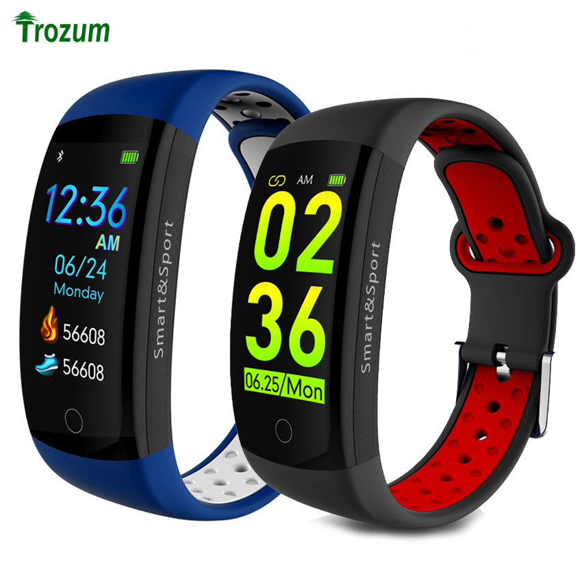Q6S Smart Bracelet Color 3D dynamic Blood Pressure Heart Rate Monitor smart wristband waterproof with sports band Fitness Watch