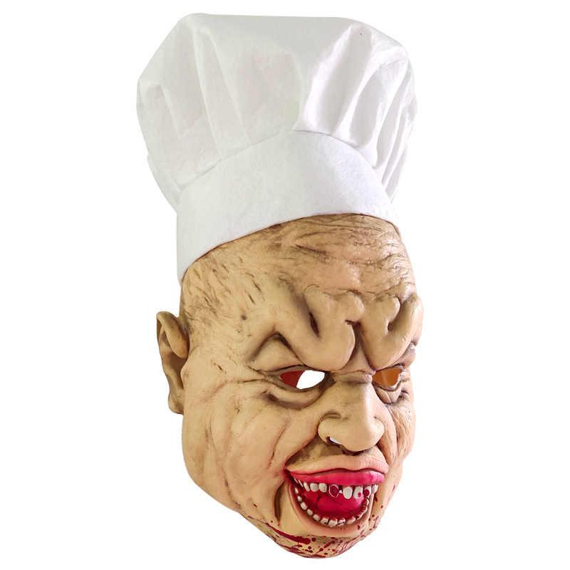 Mascherina di Orrore di halloween Cuoco Maschere Spaventoso Maschera In Lattice Del Partito di Cosplay Sanguinante Disgustoso Marciume Viso Masque Masquerade Mascara Terrore