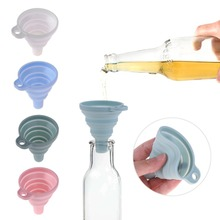 Mini Silicone Foldable Funnel Hopper Kitchen Cozinha Cooking Tools Accessories Kitchen Gadgets