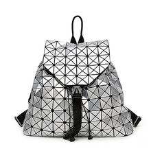 QISU 2016 BaoBao рюкзак женской Моды Девушка Ежедневно рюкзак Геометрия Пакет Блестки Складные Сумки школьные сумки