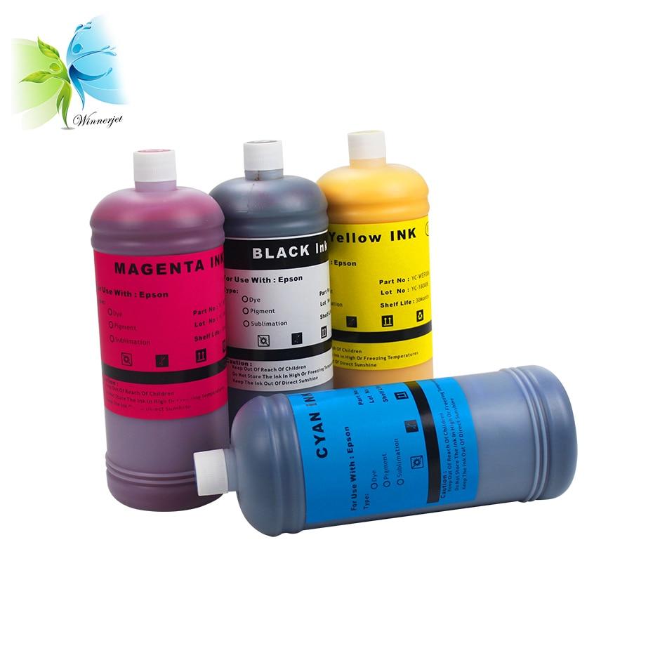 Winnerjet 4 Colors 1000ml Dye Ink for Epson Stylus NX330 430 Workforce 520 60 435 545 630 633 635 645 840 845 Printer in Ink Refill Kits from Computer Office