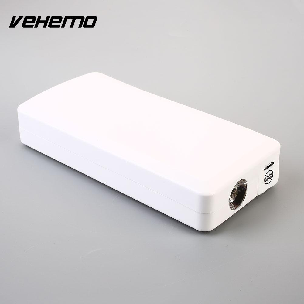 VEHEMO No Battery 12V White Supplies SOS Signal Lamp Car Jump Starter Power Kit Power Bank Jump Starter Kit Battery Charger Car