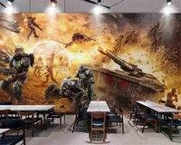 Beibehang Custom 2017 New Star Wars Tank War Internet Cafes Dedicated Backdrop Wall Wallpaper Papel De