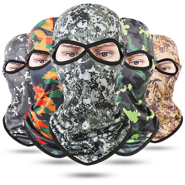 S97 Camouflage Full Face Mask Quick-dry Hood Hunting Tactical Headscarf Balaclava Outdoor Bike Cycling Winter Warm Face Mask Hat