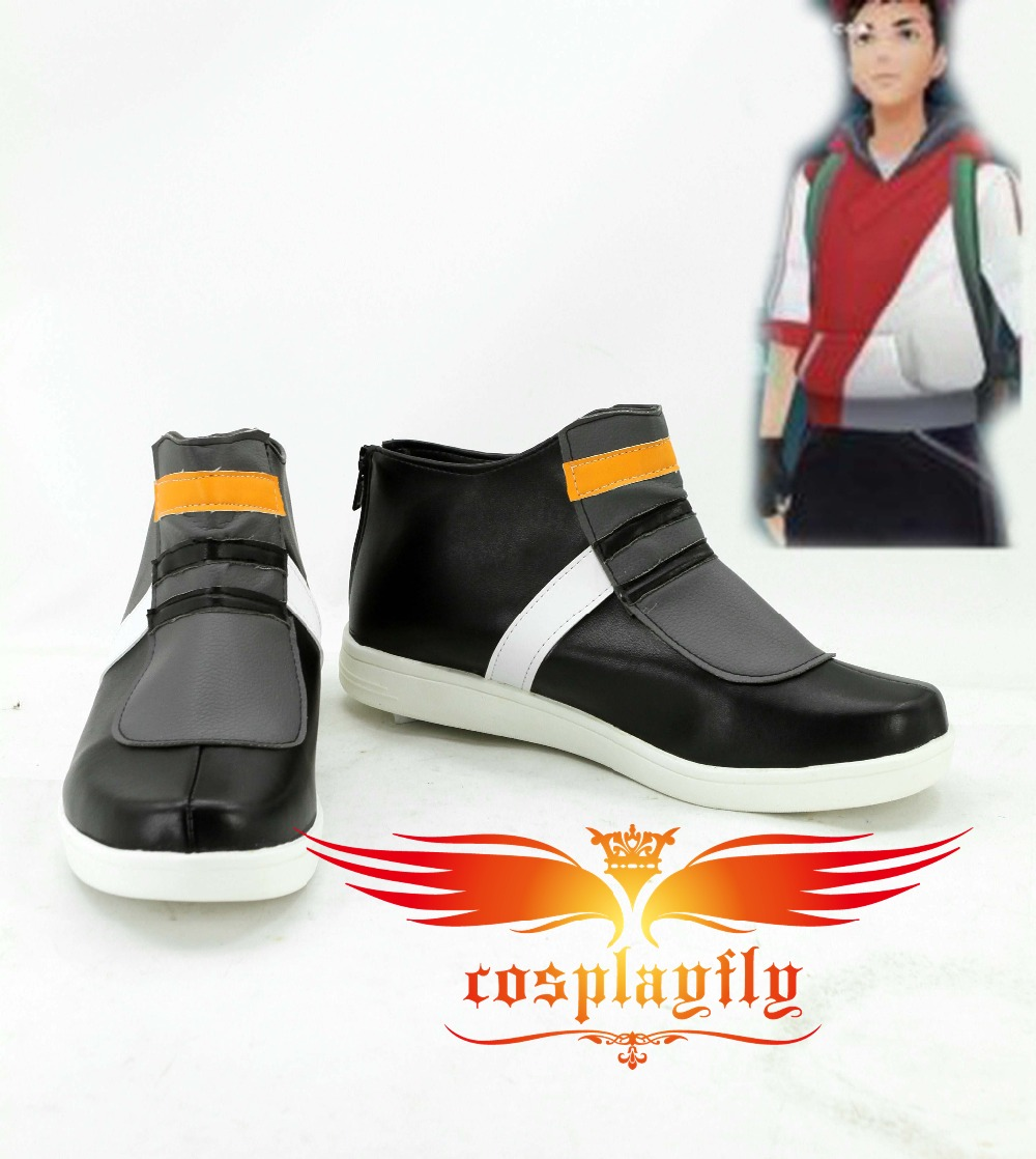 Pokemon Go Trainers Male Version Cosplay Shoes Boots For Adult Costume Custom Made