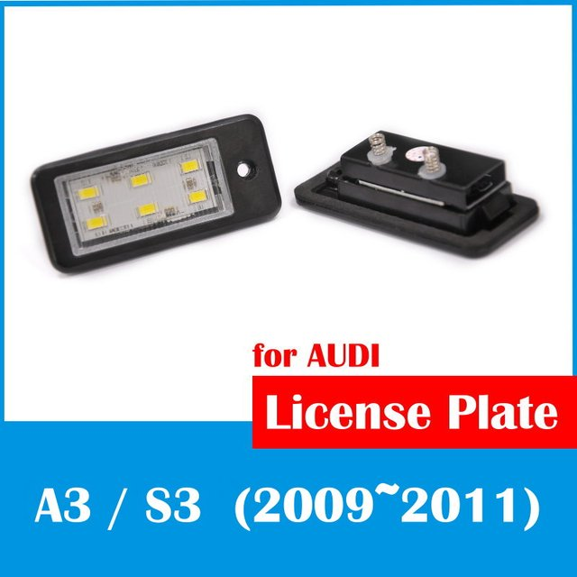 Racing Dash LED License Plate Lamp for AUDI A3 S3 2009 2011