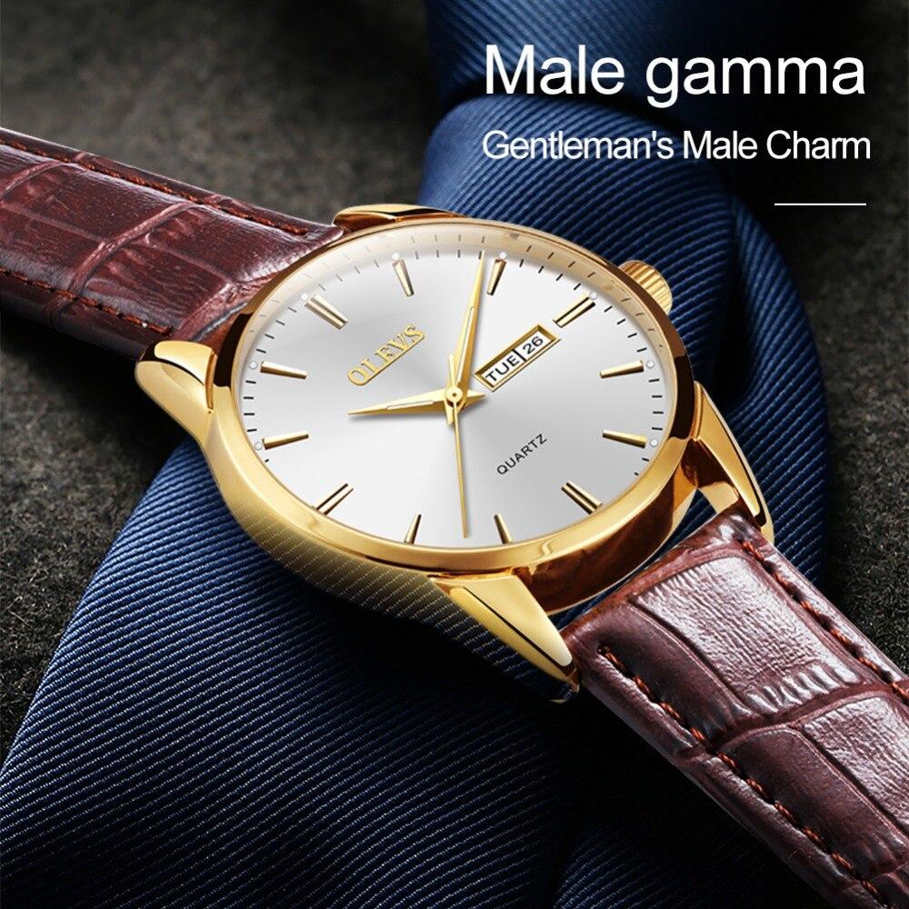 HTB1d.iPzY5YBuNjSspoq6zeNFXas Mens Watches Top Brand Luxury OLEVS Fashion Watch Men Leather Quartz Watch For Male Auto Date Rose Gold Shell relogio masculino