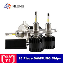 Inlong H7 LED Headlight Bulbs H11 H1 H8 H4 9005 9006 D2S D1S D3S SAMAUNG Chip 80W 10800LM 6500K Car Led Auto Headlamp Headlights(China)
