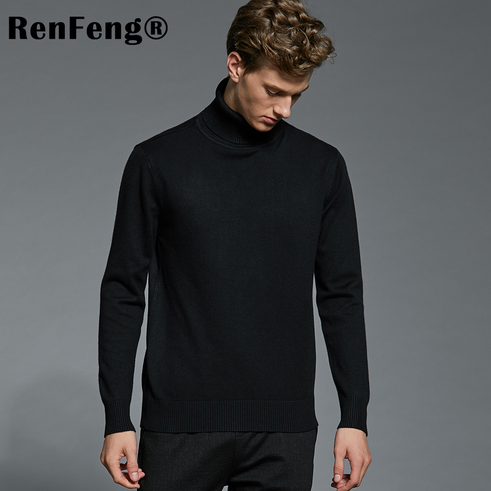 New High Quality Striped Autumn Winter Men Sweater Thick Jacquard Knitted Pullover and Sweater Fashion Casual Homme Jumper Man (7)