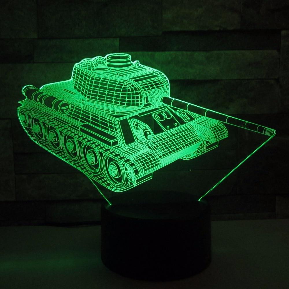 Прохладный Майки 3D ночник сенсорный выключатель 7 цветов Изменение светодиодный настольный светильник 3D Визуальный USB Ночные светильники Д...
