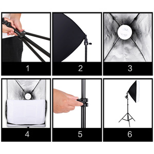 Image 5 - استوديو الصور مستطيل التصوير لينة مربع 8 Led 20 W التصوير طقم الإضاءة 2 ضوء حامل 2 لينة مربع حقيبة حمل ل كاميرا