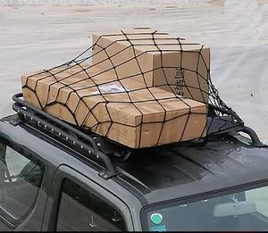 Image 5 - 120 × 90 センチメートル 12 フック車ルーフラック弾性貨物メッシュ特別ラテックス超軽量オフロード車収納ネット固定荷物コード