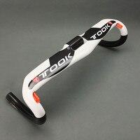 Bicycle Handlebar Racing Road Bike Cycling Carbon Fiber Handlebar Bent Bar Ultralight Bicycle Handlebar 400 420