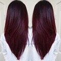 Бургундии Бразильский Пучки Волос Плетение Красный Бразильского Виргинские Волосы Прямые Человеческих Волос 3 Пучки 99J Бразильские Прямые Волосы Пучок