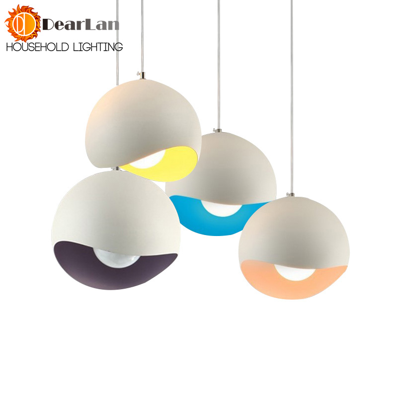 Modern Aluminum Pendant Lamp Foyer Lamp Dining Room Pendant Light Loft Lamp White/Blue/Yellow/Purple Aluminum Dining Room Lights modern guard dining room pendant lights white black golden silver lamp