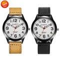ALEGRIA NOVA Fabulous Design Retro de Luxo Relógio dos homens de aço Inoxidável Relógios de Quartzo Analógico Couro Drop Shipping #0224