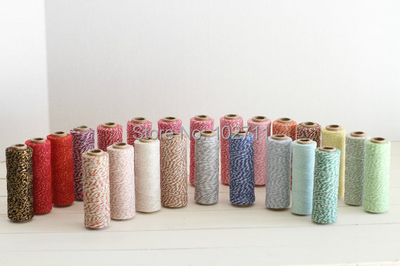 4ply 20 pcs 100M pcs fast shipping colorful high quality twine cotton baker rope baker twine