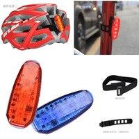 Gub led à prova dwaterproof água bicicleta ciclismo frente traseira da cauda capacete vermelho flash luzes de advertência segurança lâmpada luz cautela