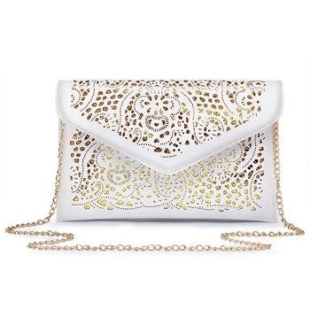 New 2019 Fashion Hollow Out Envelope Bag Small Women Leather Crossbody bag For girl Shoulder bag Messenger bag Clutch Handbag