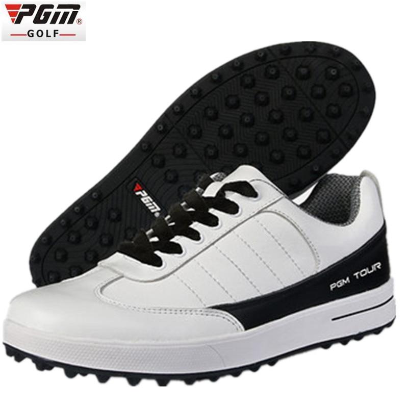 Genuine PGM Golf Shoes Men Waterproof XZ937 Rubber Cotton Fabric EVA Breathable Beginner White zapatos de golf deporte golf shoe ampeg svt 410he cover