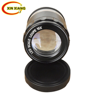 8 LED Illuminated Magnifier With Illumination Optical Lens Magnifying Glass Magnifier 10X Zoom Loupe Scale Cylindrical Lupa