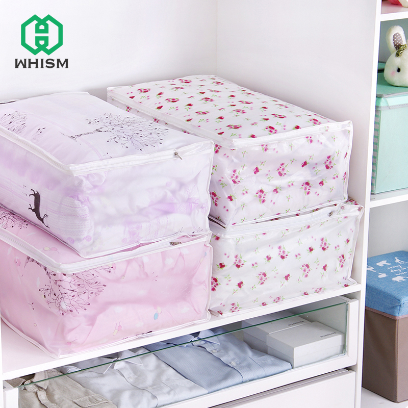 WHISM PEV Foldable Storage Bags Clothing Bedding Holder Comforter Dustproof Cover Wardro ...
