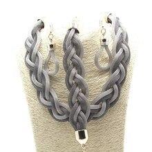 Горячей семь цветов цепи сплава комплект для женщин мода старинные короткое ожерелье браслет серьги