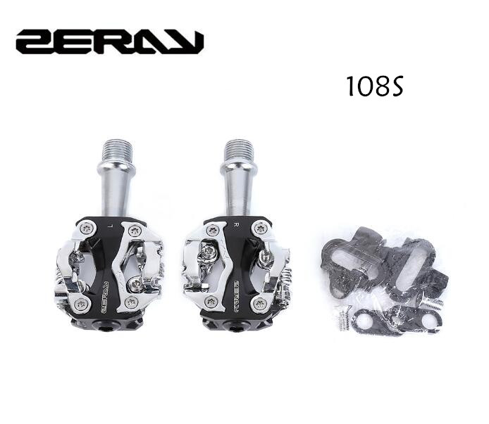 ZERAY ZP-108S Cycling Road Bike MTB Clipless Pedals Self-locking Pedals SPD Compatible Pedals Bike Parts 108S