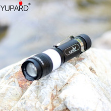 YUPARD zoom Torch T6  led  bright camping USB charging  zoomable focus Flashlight Torch 1×18650 rechargeable battery